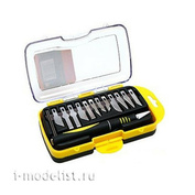 4010 Jas Knife with collet clip (aluminum), with a set of blades, 15 objects