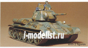 35059 Tamiya 1/35 Советский танк Т34/76 (с 2-мя наборами катков) с 2 фигурами танкистов