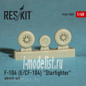 RS48-0009 RESKIT 1/48 Wheels for F-104 (E) CF-104