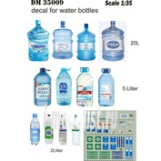 DM35009 DANmodel Decal 1/35 Декали этикетки на бутылки с минеральной водой