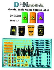 DM35010 DANmodel Decal /35 Декали этикетки на бочки с токсичными отходами