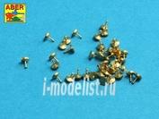 16 106 Aber 1/16 Turned rivets 0,9 x1,3 x 0,5mm 40 pcs.
