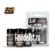 AK-2030 AK Interactive Набор жидкостей для нанесения эффектов AIRCRAFT LANDING GEAR WEATHERING SET (шасси самолётов)