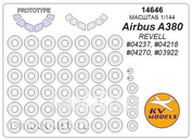 14646 KV models 1/144 Airbus 380 + Airbus 380 (prototype mask) - (REVELL #04237, #04218, #04270, #03922) + masks on wheels and wheels