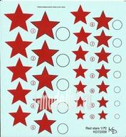 72009 KV Decol 1/72  Российские звезды, тип 2 (два листа)