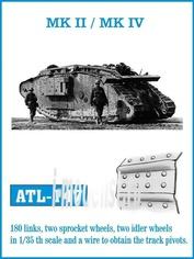 ATL-35-147 Friulmodel 1/35 Траки железные для MK II / MK IV