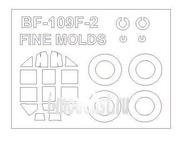 72571 KV Models 1/72 Набор окрасочных масок для Bf-109 F-2 / R-6 /G-4 + маски на диски и колеса