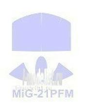72055 KV Models 1/72 Набор окрасочных масок для остекления модели МиК-21ПФМ