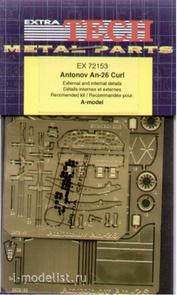EX72153 Extratech 1/72 Фототравление для Antonov An-26 Curl internal and external details