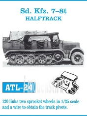 Atl-35-24 Friulmodel 1/35 Траки сборные железные для Sd. Kfz. 7-8t Halftrack