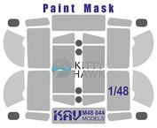 M48 044 KAV Models 1/48 Paint Mask for U 4320/APA-5D (Kitty Hawk)