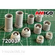 AMG72003 Amigo Models 1/72 ВНА и реактивное сопло двигателя РД-7М