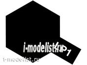 82101 Tamiya LP-1 Black (Черная глянцевая) Лаковая краска 10мл.