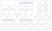 72656 KV Models 1/72 Маска для Суххой-24МР (двусторонние маски) + маски на диски и колеса