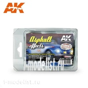 AK8090 AK Interactive Набор ASPHALT EFFECTS (RACE SET) (набор для создания асфальта)