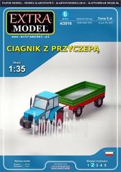 EM010 EXTRA MODEL 1/35 Ciagnik z przyczepa