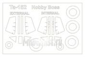 48070 KV Models 1/48 Набор окрасочных масок для остекления модели Focke-Wulf Ta-152C-0/C-1/C-11/R14 (Двусторонние маски)  + маски на диски и колеса