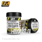 AK8023 AK Interactive Terrains Neutral Texture for Earth 250ml (Нейтральная поверхность)