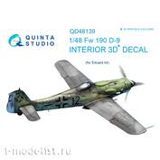 QD48139 Quinta Studio 1/48 3D Cabin Interior Decal FW 190D-9 (for Eduard model)