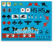 ep 903 Peddinghaus-decals 1/72 Декаль german submarine heraldic, unit markings and flags
