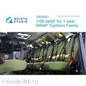 QR35001 Quinta Studio 1/35 Комплект ремней на одно кресло для семейства бронеавтомобилей Тайфун (Для всех моделей)