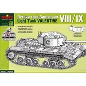 3552 Макет 1/35 Легкий танк Valentine VIII/IX