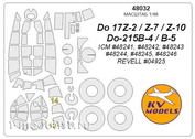 48032 KV Models 1/48 Маска для Do 215B-4 / B-5