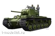 09597 Я-Моделист Клей жидкий плюс подарок Trumpeter 1/35 Танк КВ-1 1942 Simplified Turret Tank с танкистами