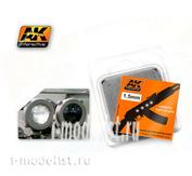 AK203 AK Interactive Линзы прозрачные БЕЛЫЙ 1,5mm
