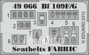 49066 Eduard 1/48 Фототравление для Bf 109F/G seatbelts FABRIC