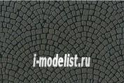 87165 Tamiya Диорам. лист А4 (булыжная мостовая мелкая) (Diorama Material Sheet (Stone Paving A))