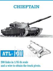 Atl-35-101 Friulmodel 1/35 Траки сборные (железные) CHIEFTAIN