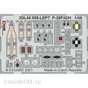 3DL48009 Eduard 1/48 3D Декаль для P-38F SPACE
