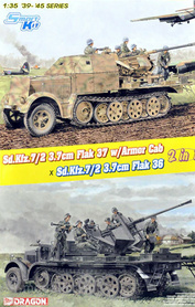 6953 Dragon 1/35 Sd.Kfz.7/2 3.7cm Flak37 w/Armored Cab x Sd.Kfz.7/2 3.7cm Flak36
