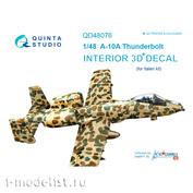 QD48076 Quinta Studio 1/48 3D Cabin Interior Decal A-10A (for Italeri model)