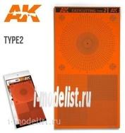 AK8057 AK Interactive EASYCUTTING TYPE 2 / Трафарет для повторного использования тип 2