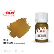 C1020 ICM Paint for creativity, 12 ml, color Bronze (Bronze)