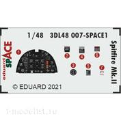 3DL48007 Eduard 1/48 3D Декаль для Spitfire Mk. II SPACE