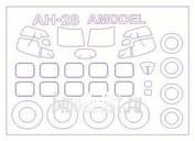 72592 KV Models 1/72 Набор окрасочных масок для Ан-28 + маски на диски и колеса