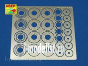 24 019 Aber 1/24 Фототравление Standard drilled discs brakes dia. 14mm