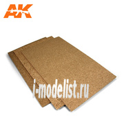 AK-8053 AK Interactive Cork Sheet 200x300x 2mm coarse grained / Лист из пробки