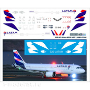 320-47 PasDecals 1/144 Decal for 320 NEO LATAM