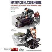 35331 MiniArt 1/35 Maybach HL 120 Engine for Panzer III/IV Tank + Repairmen figures