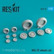 RS72-0057 RESKIT 1/72 Mig-25 смоляные колеса