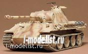 35065 Tamiya 1/35 Немецкий средний танк Panther (Sd.kfz.171) Ausf.А с 75 мм пушкой и пулем.KWK42 (2 фигурами танкистов)