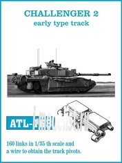 ATL-35-163 Friulmodel 1/35 Траки железные для CHALLENGER 2 early type track