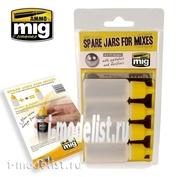 AMIG8004 Ammo Mig SPARE JARS FOR MIXES (Запасные баночки для смесей)
