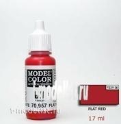 70957 Краска акриловая `Model Color Красный темный/Flat red