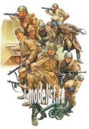 32521 Tamiya 1/48 Russian Infantry & Tank Crew Set Советские пехотинцы второй мировой войны.
