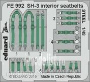 FE992 Eduard 1/48 SH-3 interior steel straps